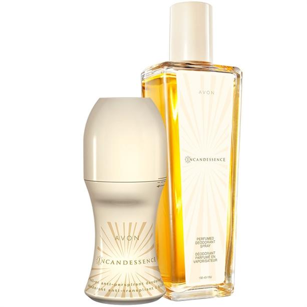 Set Spray parfumat si Deodorant cu bila Incandessence - Catalog Avon